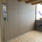 Eco dry wall in log house 2