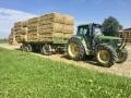 Ekopanely harvest 2017 - balers for strawboards production - transport of straw bales